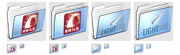 Lighttpd and Rails folder icons