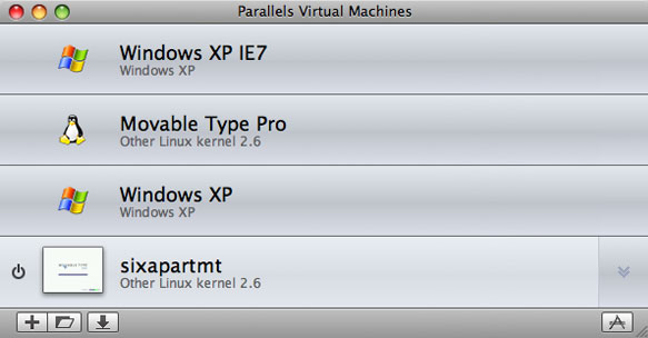 Parallels Virtual Machines